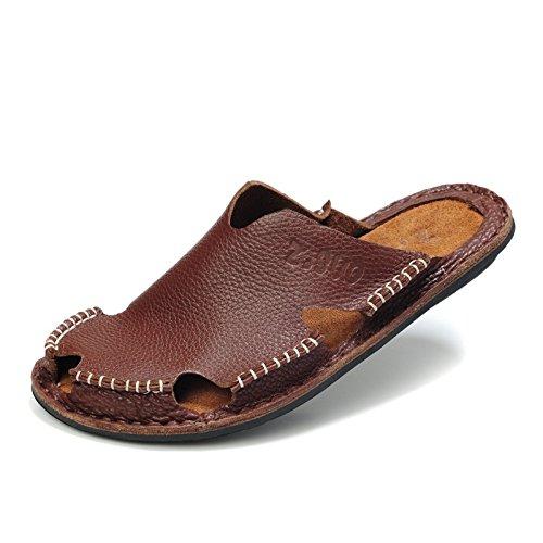 Z.SUO走索 夏季韩版 拖鞋 凉鞋 网鞋 帆布鞋ZS101棕色