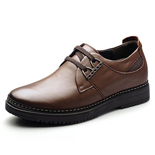 Gog 高哥 增高鞋秋季男式休闲鞋6厘米英伦男士内增高男鞋商务皮鞋