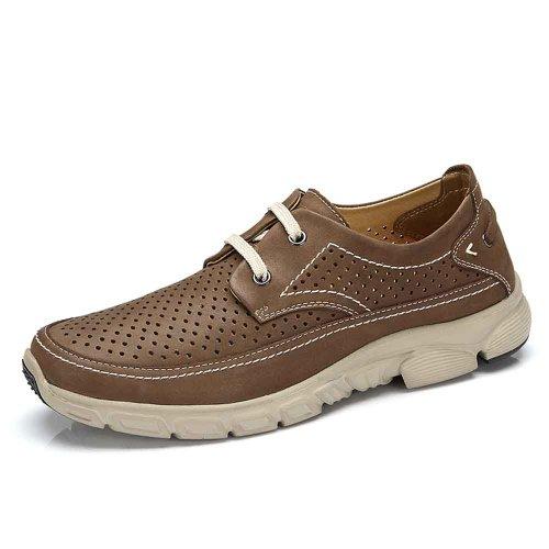 骆驼牌 真皮牛皮磨砂皮 2014新款休闲鞋系带透气男鞋 W412307004