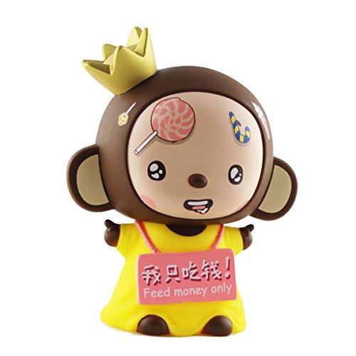 爱储蓄/ aichuxu皇冠猴mokyo卡通存钱罐汽车饰品储钱罐摆件小猴子创意
