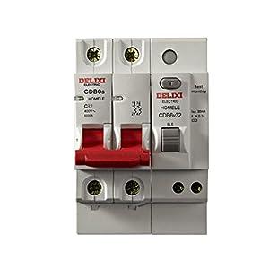 德力西小型断路器 cdb6vs 2p32a 家用漏电保护器空气开关触电保护