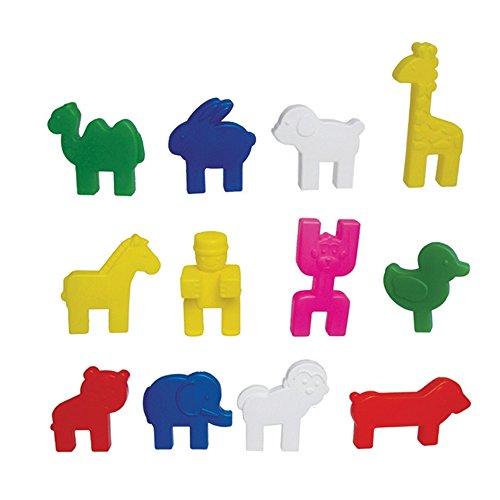 l 游思乐 幼教 幼儿园 益智 建构 拼插 搭建 玩具 diy 积塑 动物积木