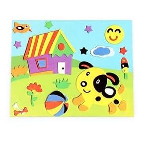 小学生卡纸拼图图片_黑卡纸_幼儿园手工卡纸相框_用 ...
