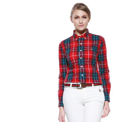 U.S.POLO ASSN. 美国马球协会 女式 长袖休闲衬衫 C123013201