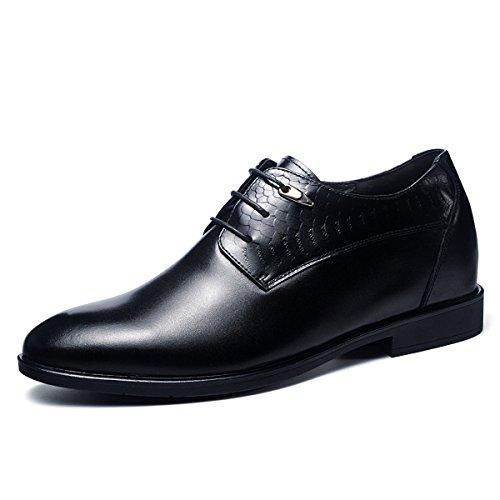 Gog 高哥 男增高鞋秋季男士结婚皮鞋隐形内增高男鞋8cm英伦真皮秋