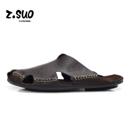 Z.SUO走索 夏季韩版 拖鞋 凉鞋 网鞋 帆布鞋ZS605棕色