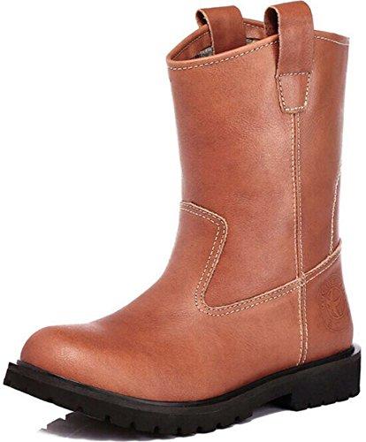 Guciheaven 英伦男士皮鞋 时尚商务休闲皮鞋 中筒靴 马丁靴 时装靴 保暖雪地靴 大头皮鞋 男鞋JRS5677