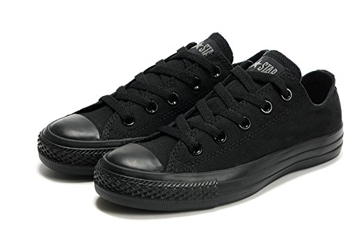 Converse 匡威 经典款 中性 全黑色低帮 帆布鞋 1Z635