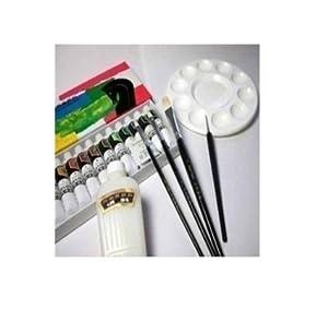 商品描述         diy手绘颜料 马利丙烯颜料 18色 +画笔+勾线笔+调和