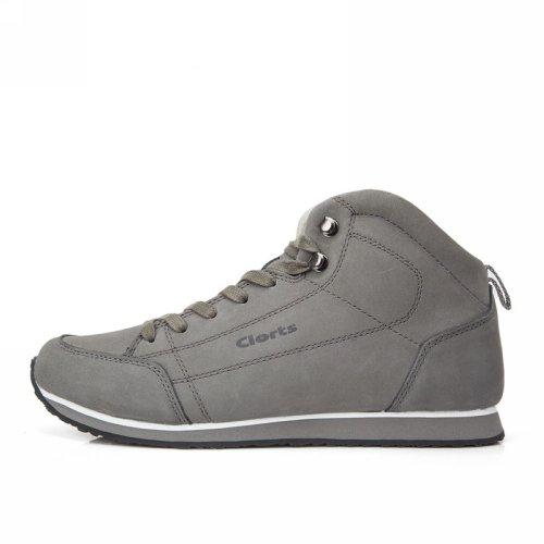 Clorts 洛弛 春夏头层牛皮轻便舒适磨防滑情侣户外低帮登山徒步休闲鞋 3G012