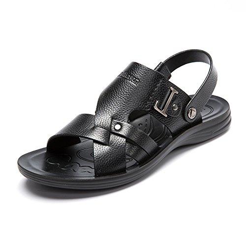 MULINSEN 木林森 男凉鞋真皮夏季新款凉拖鞋男沙滩鞋男士休闲牛皮凉鞋