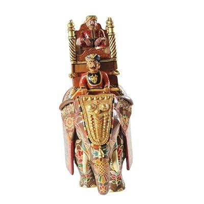 者梅 印度原装进口 彩绘 木雕吸财风水大象 摆件家居装饰乔迁礼品 11