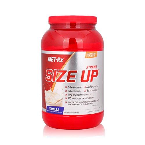 MET-Rx 美瑞克斯 Size Up营养粉固体饮料(香草味)3磅/桶(1360g)(进口)-图片