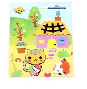 小猫头饰简笔画彩色