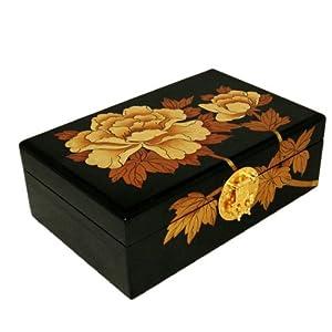 高清手绘礼品盒包装牡丹图片