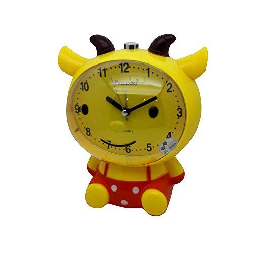 凤翔钟表 山羊创意 儿童学生小闹钟 卡通会说话钟表 可爱静音闹钟
