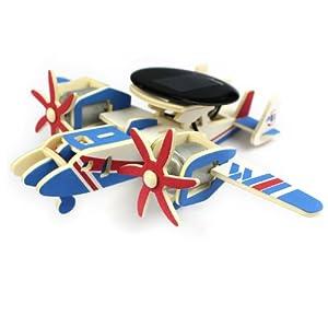 若态科技 木质拼装太阳能飞机模型军事迷最爱魅影预警