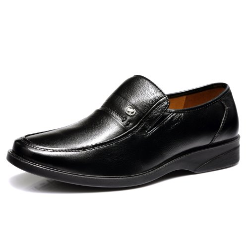 Fuguiniao 富贵鸟 顶级头层牛皮商务休闲鞋 正装鞋 简约舒适套脚皮鞋 耐磨橡胶底徒步鞋