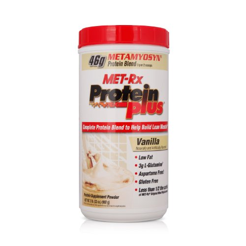 MET-Rx 美瑞克斯 Protein plus复合蛋白粉固体饮料(香草味)907g(进口)-图片