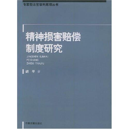 精神损害赔偿制度研究/专家型法官审判原理丛书