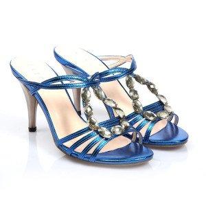 2011夏季金属色穿珠高跟女凉鞋