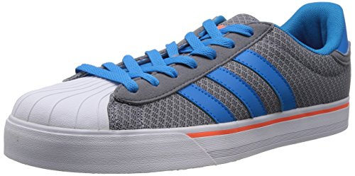 Adidas NEO 阿迪达斯运动生活 BASKETBALL 男 休闲篮球鞋 BBNEO CLASSIC LT F76373 淡灰/太阳能蓝2 S14/警报红荧光 41 (UK 7-)