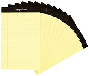 amazonbasics legal/wide ruled 5 x 8-inch writing