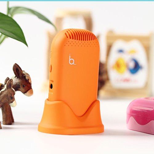 盛派 RECESKY 美空气日记 随身便携空气净化器 电子口罩 防PM2.5 (橙色)-图片