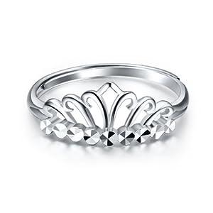 爱朵钻 pt950铂金戒指花边皇冠戒指 指环 活动圈口 活