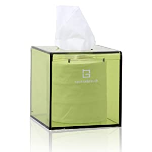 hg 欧式简约纸巾盒 亚克力吸铁 正方形 家用抽纸盒 纸巾抽 h18015