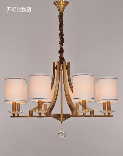 客厅吊灯欧式现代简约电镀铜灯中式工程