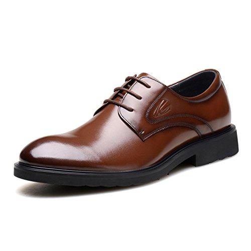 德国骆驼动感男鞋 正装皮鞋男士商务皮鞋英伦尖头系带真皮韩版休闲皮鞋2328