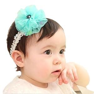 韩版女宝宝蕾丝发带 假发发饰 婴儿童可爱公主发箍 韩国拍照头饰