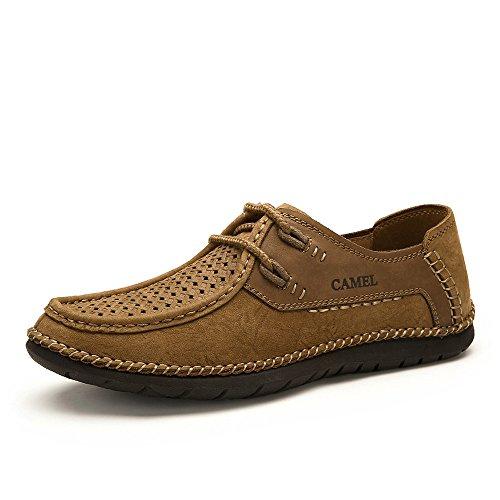 Camel 骆驼 男鞋 复古磨砂牛皮手工休闲皮鞋 2015夏季新款男鞋
