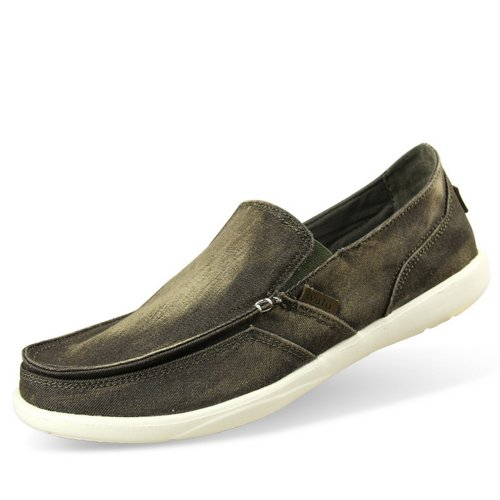 WALU 沃尔卢 水洗牛仔帆布鞋 男鞋 夏季休闲鞋一脚蹬懒人鞋1266