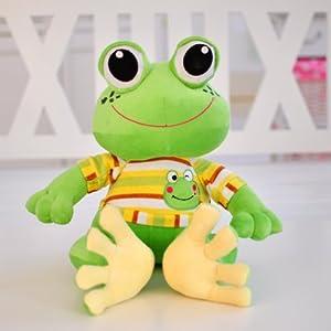可爱卡通青蛙毛绒玩具青蛙王子公仔大眼蛙布娃娃创意生日礼物(有国33