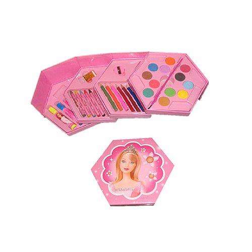 儿童学习用品   儿童全套彩笔绘画文具套装礼盒  生日礼物(共46件组合) (可爱女孩套装)-图片