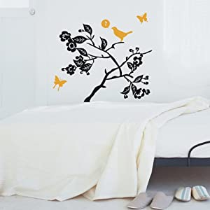 vmego 薇美嘉 一代墙贴 树枝小鸟-11 可移除墙贴纸定做冰箱冰柜橱柜