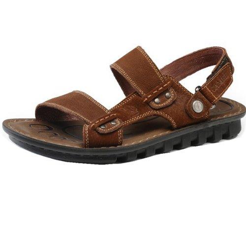 Camel 骆驼牌 时尚凉鞋款 清凉透气 简约大气 意式车缝 户外经典 头层牛皮 耐磨超软 男凉鞋