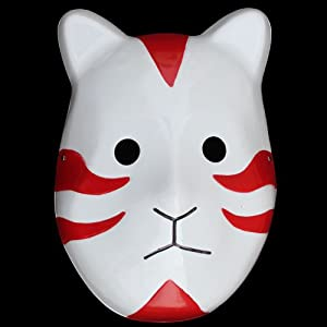 快乐派对 卡卡西暗部面具 火影忍者 cosplay舞会派对 火影猫咪面具红