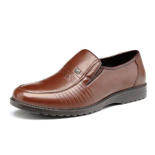 Mulinsen 木林森 真皮尊贵优雅时尚商务休闲鞋 正装鞋 超酷奢华品质韩版男士时装鞋 轻便舒适个性休闲鞋皮鞋 男鞋