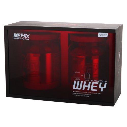 MET-Rx 美瑞克斯 乳清蛋白礼盒装(乳清蛋白粉固体饮料(巧克力味)453g+(香草味)453g)(进口)-图片