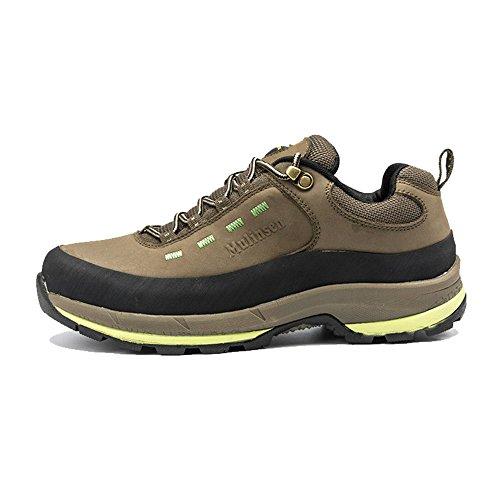 木林森 登山鞋户外 真牛皮耐磨徒步鞋防滑户外运动鞋