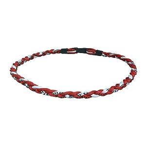 盛邦SOBON锗钛负离子三倍运动能量项圈zt BZ红加白底黑字图片