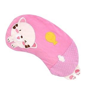 童荞麦枕 宝宝枕头 儿童枕头 新生儿纠正偏头 卡通刺绣 月亮猫粉读后图片