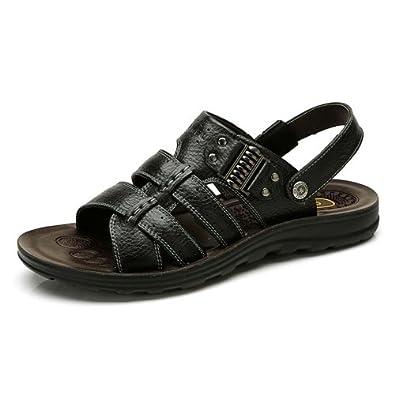 Camel 骆驼 男凉鞋 头层牛皮沙滩鞋 日常休闲沙滩男凉鞋 82203614