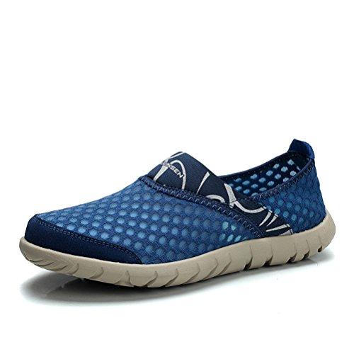 MULINSEN 木林森 夏季男士网面超轻透气休闲运动鞋网鞋 时尚套脚防滑速干鞋网布鞋懒人鞋