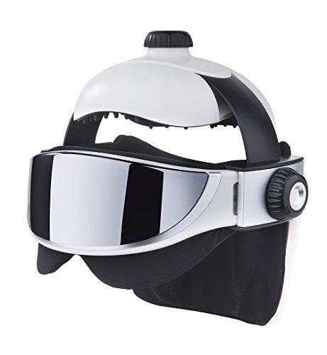 JUFIT 居康 头部按摩器按摩仪 眼部按摩器按摩仪 头眼结合 奢华体验 (白色-升级款)-图片