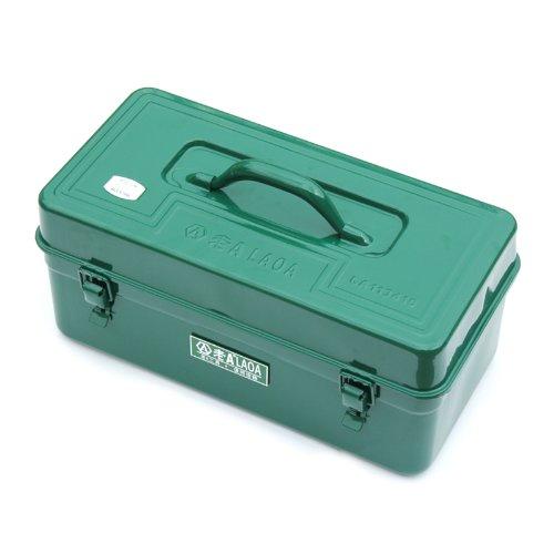 台湾老A 16.5寸方形铁皮工具箱 带内层 铁皮箱 铁箱 LA113410