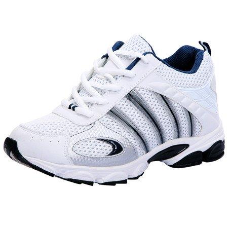 Gog 高哥 增高鞋男式 男士休闲运动增高鞋 男士白色隐形内增高鞋 增高6.5cm /厘米 高哥增高鞋 2354-13